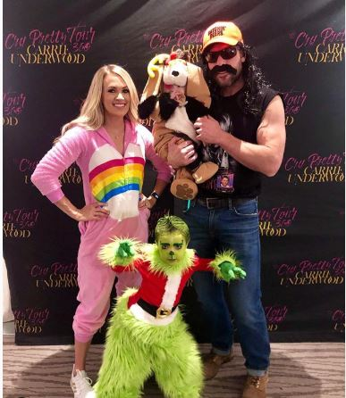 Mike Fisher with his family